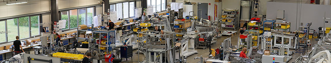 Produktion  Exakt und flexibel. Manufacturing by IFSYS and EMSO.